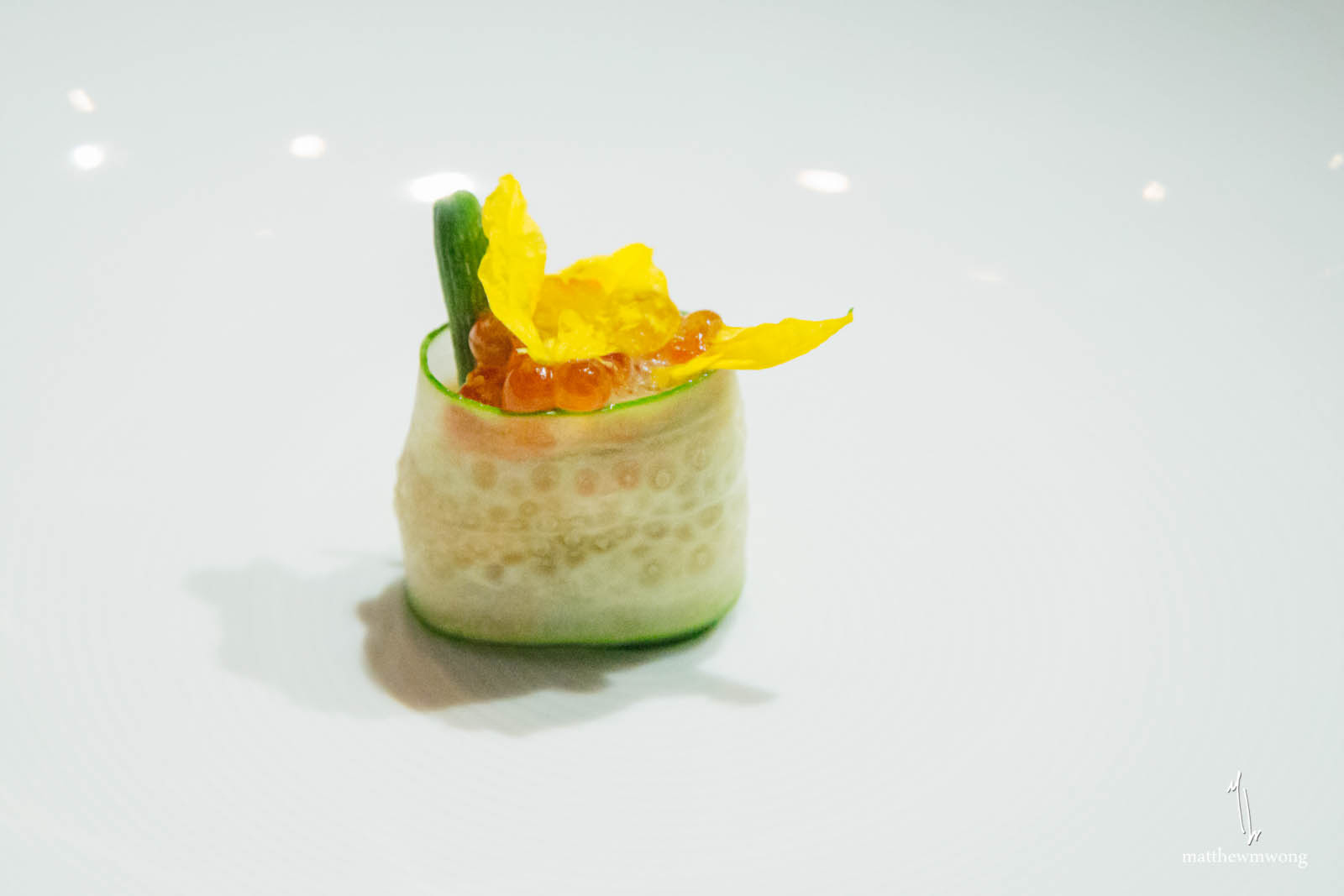 Tasmanian Ocean Trout - smoked ikura, wasabi, vinaigrette