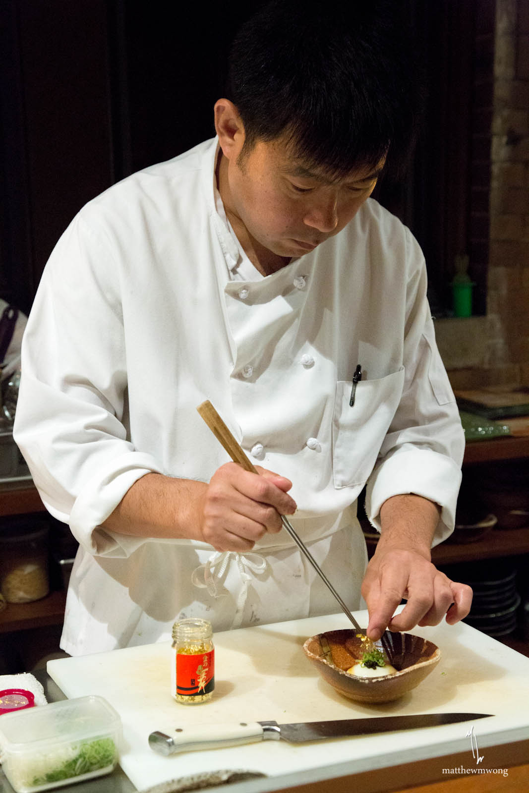 Plating the Onsen Egg