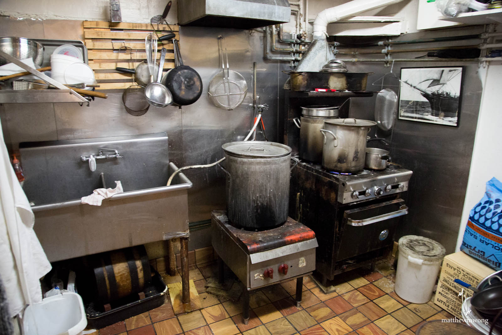 Kitchen at Swan Oyster Depot
