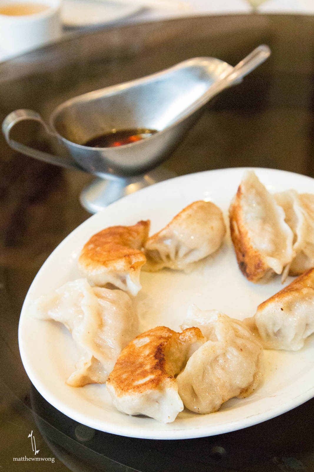 Woh Tiep aka Pot Stickers with Chili Dipping sauce