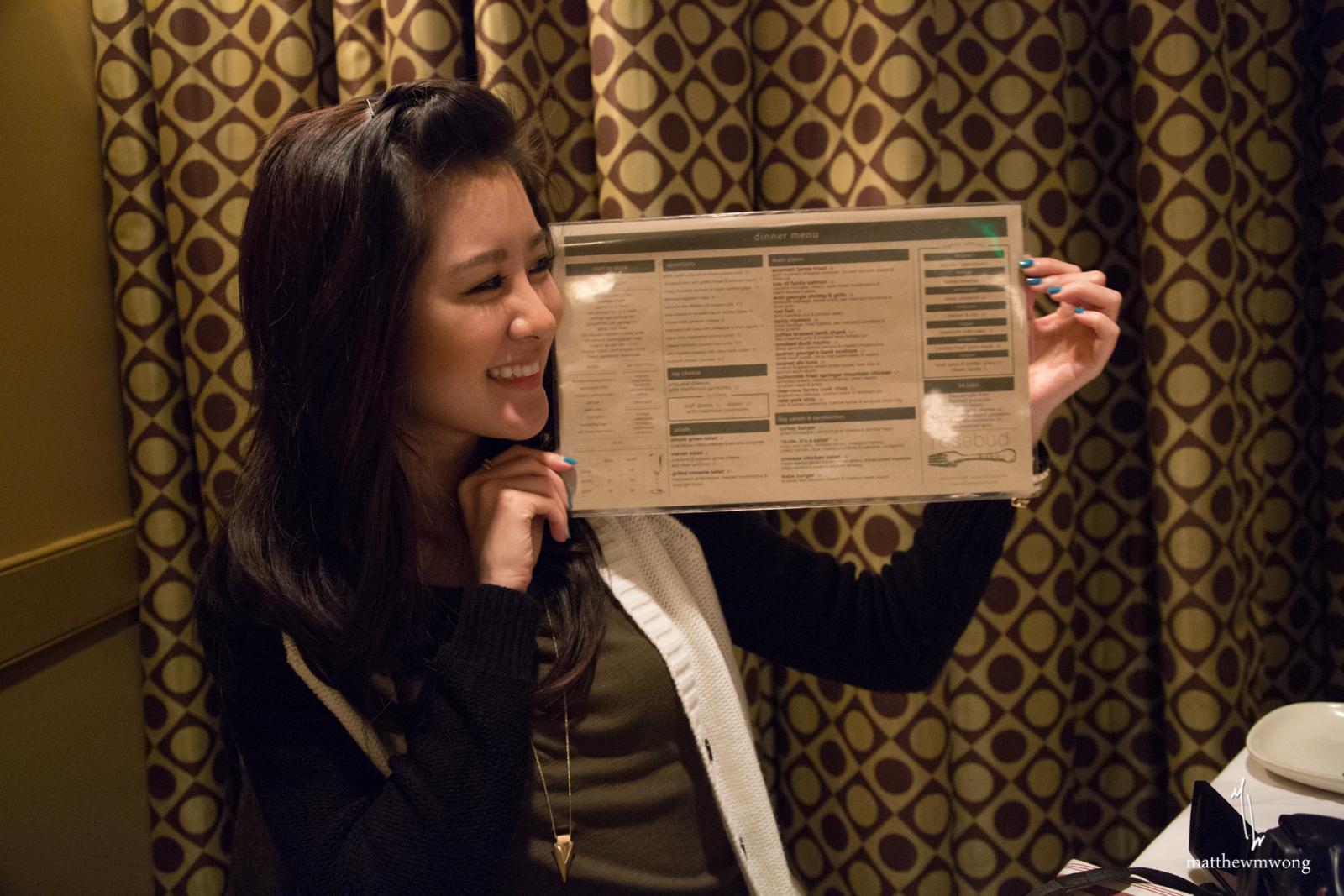 Christine w/ menu