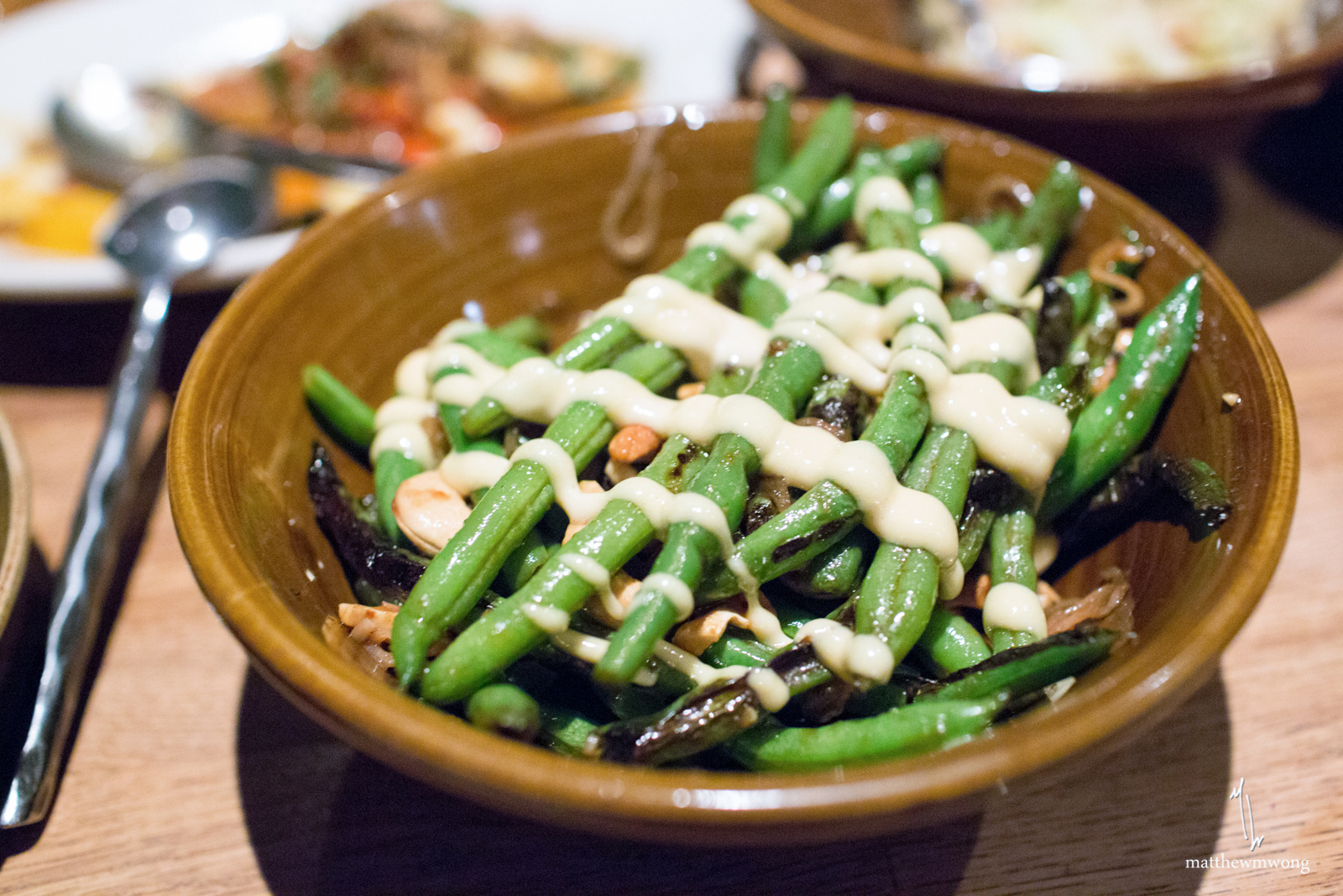 sauteed green beans, fish sauce vinaigrette, cashews