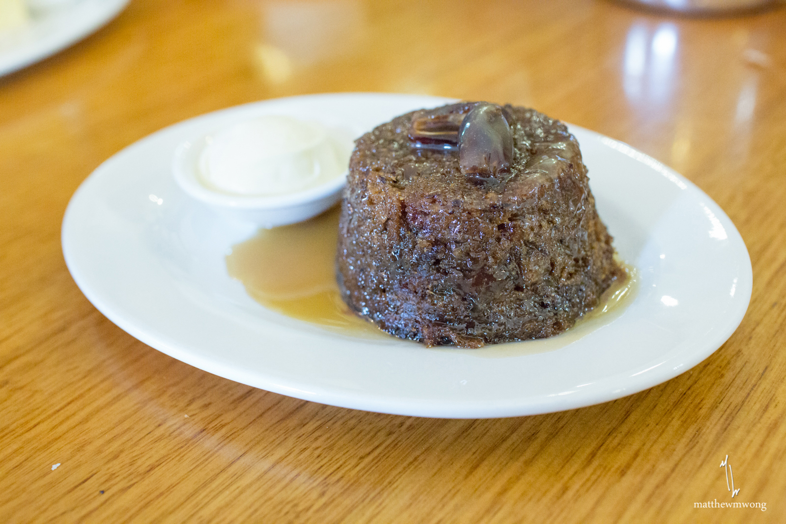Plum Pudding with custard