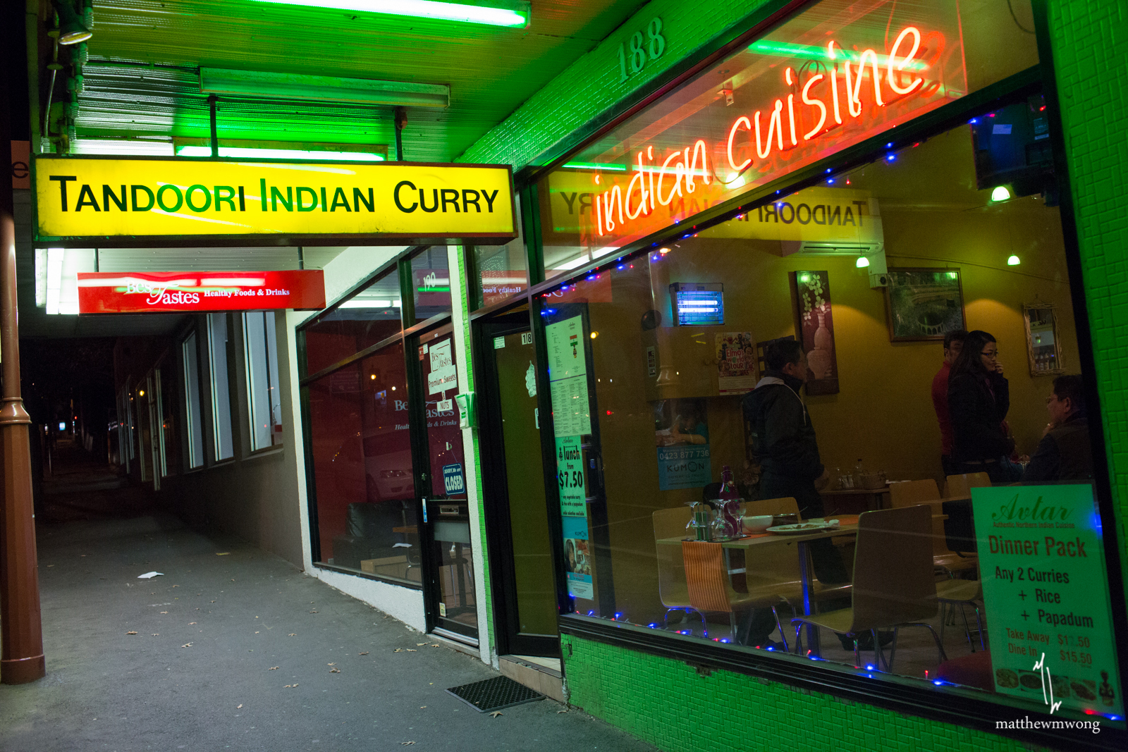 Outside Avtar - Tandoori Indian Curry