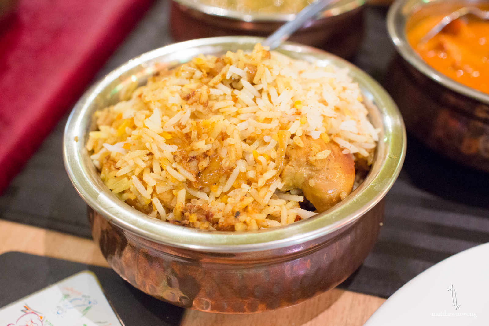 Chicken Biryani, Rice cooked with spiced chicken
