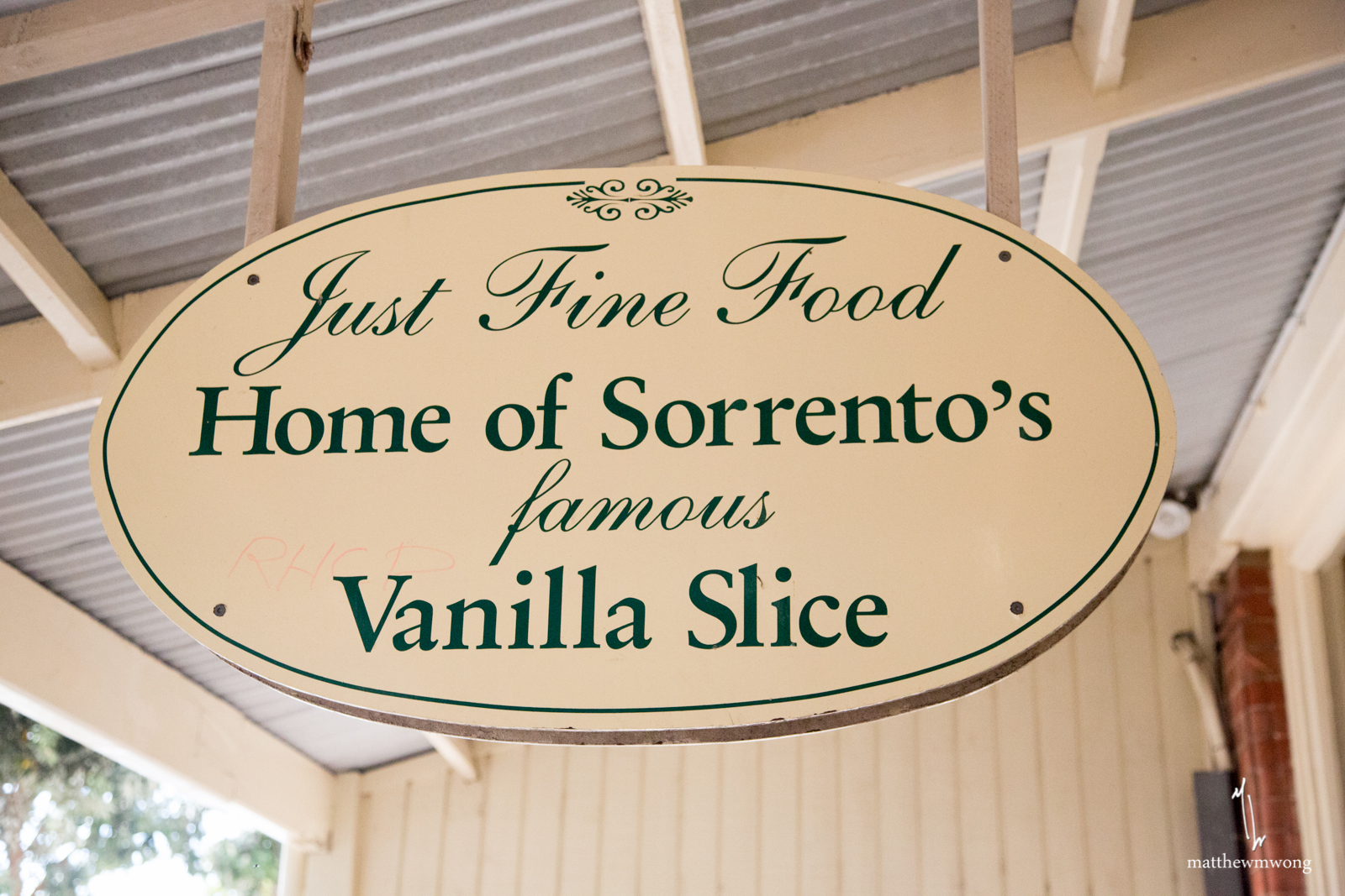 Just Fine Food Sign