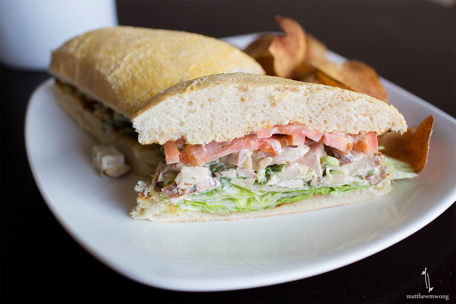 Chopped Chicken Salad Sandwich