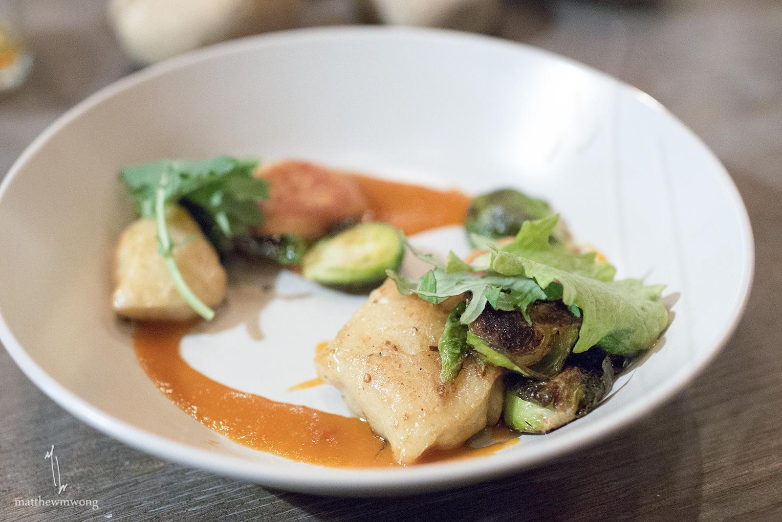 Crispy gnocchi, shaved Spanish chorizo, brussel sprouts, guajillo sauce