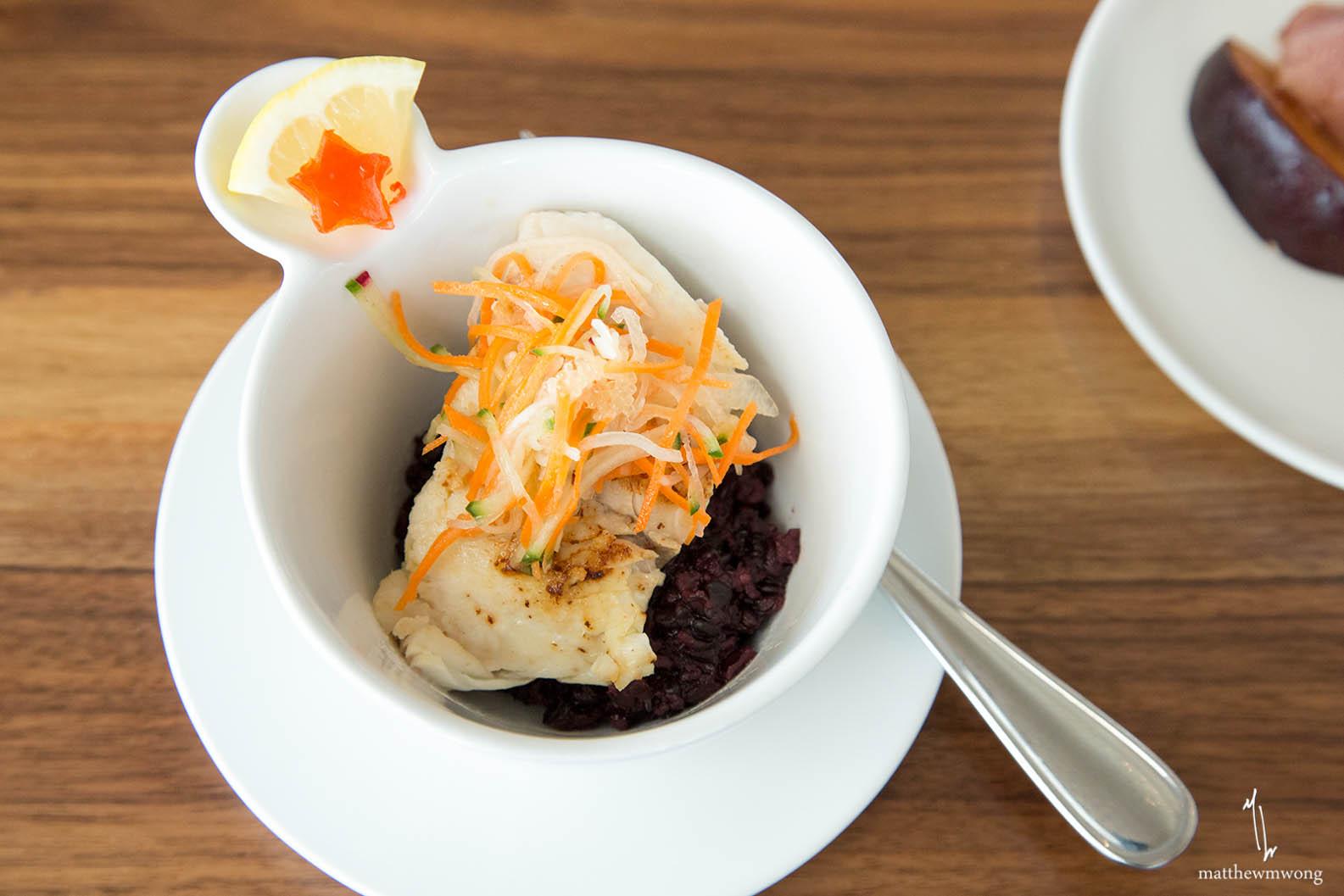 Red Porgy, Pickled Vegetable, Finger Lime Caviar