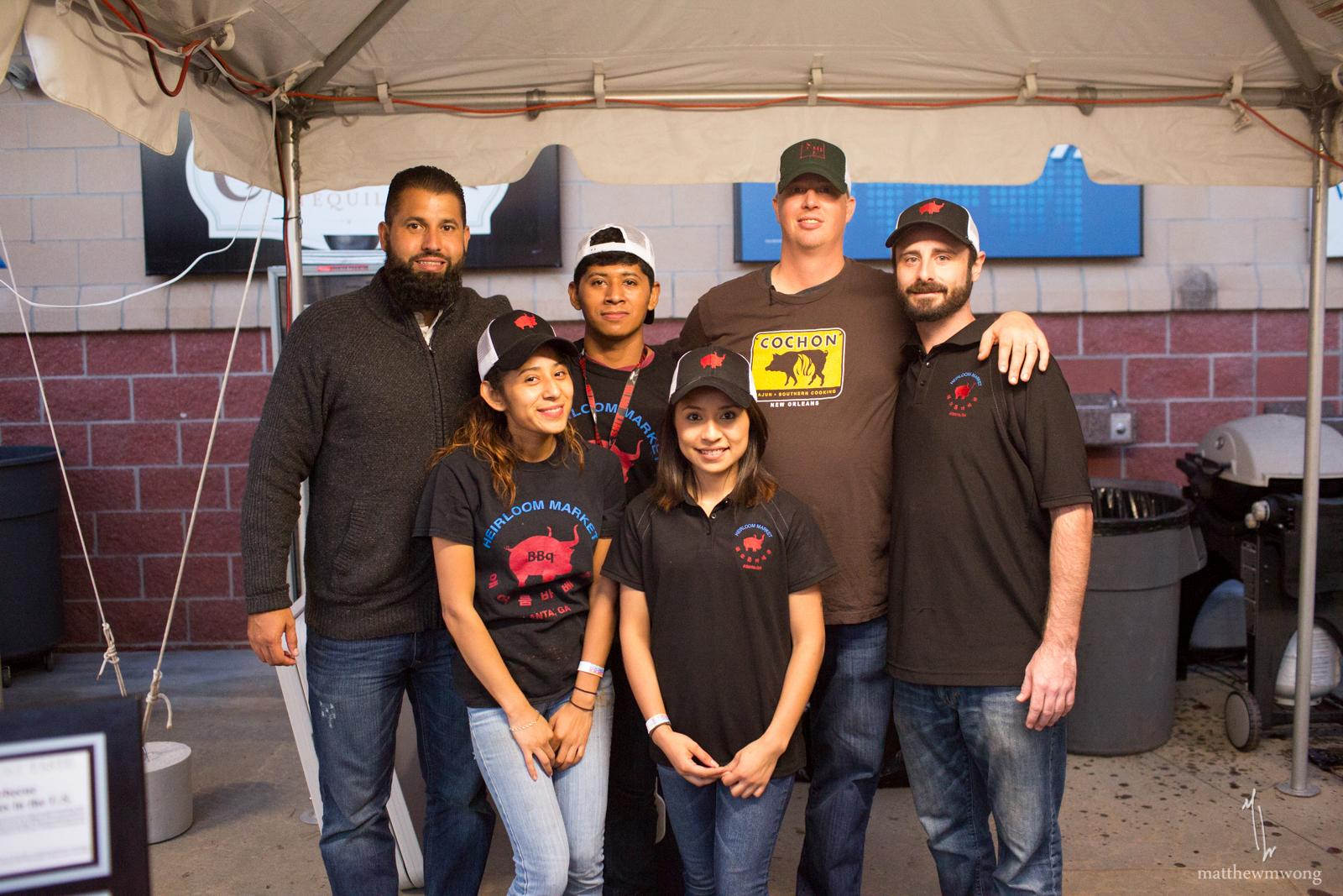 Chef Cody Taylor's team at Heirloom Market BBQ