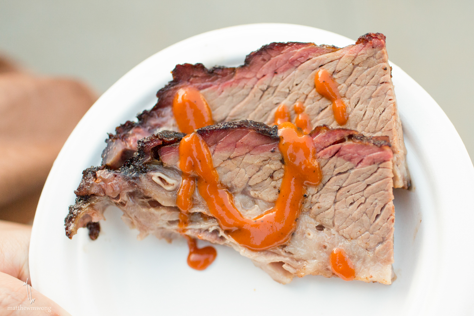 Twin Smokers BBQ beef brisket