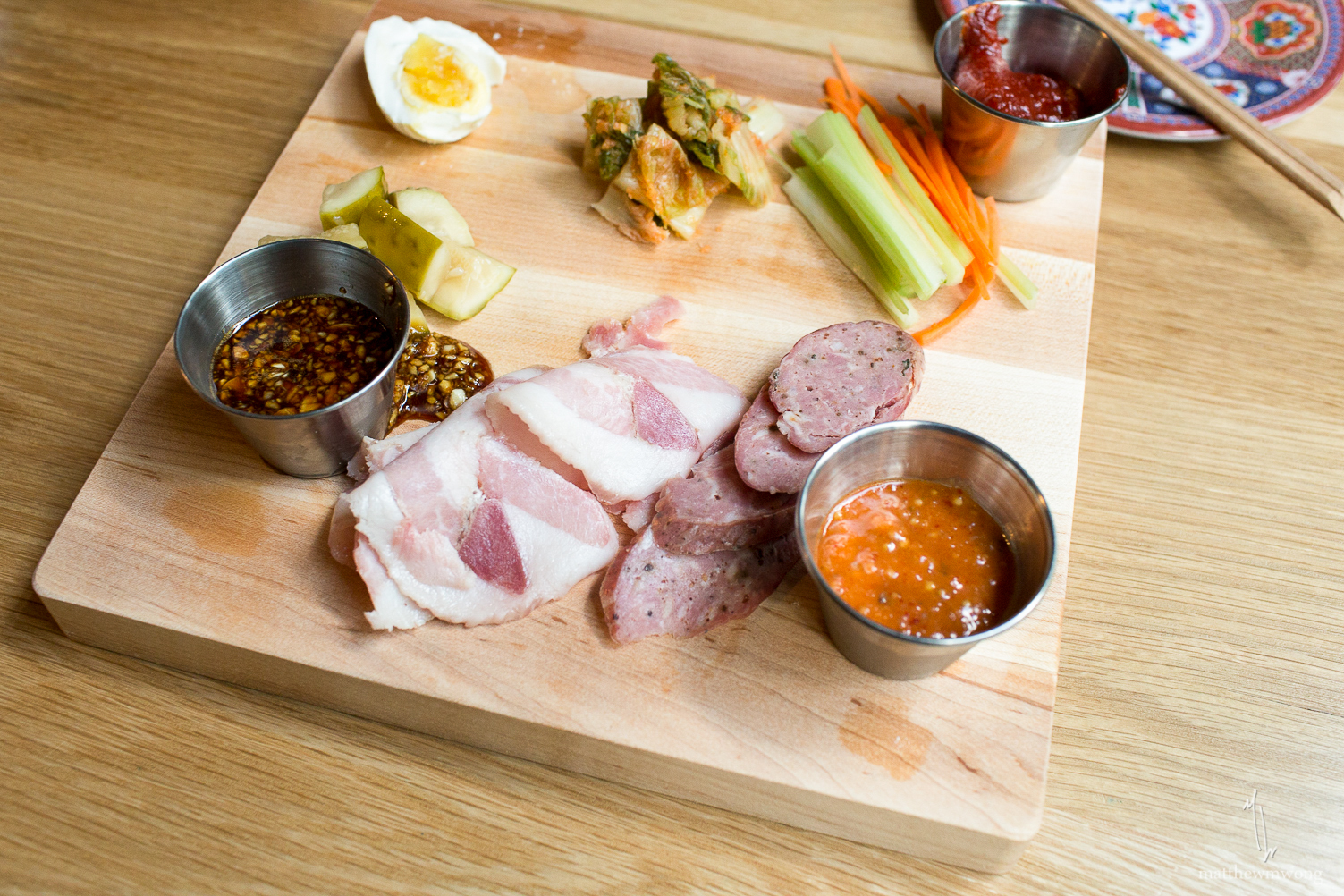 Makan Charcuterie - daily selection of cured, smoked or prepared meats, pickles and vegetables